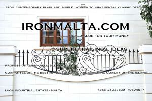 d2a wrought iron works malta  balcony balconies galvanized sprayied coated exterior design ideas modern contemporary classic plain white black grey.JPG