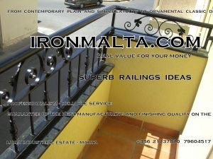 f4 wrought iron works malta  balcony balconies galvanized sprayied coated exterior design ideas modern contemporary classic plain white black grey.JPG